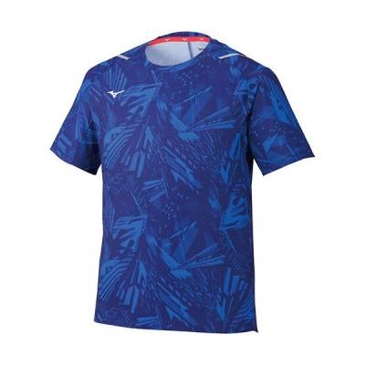 ミズノ(MIZUNO) メンズ ドライエアロフローTシャツ ブルー 32MA0520 20 半袖 トレーニング スポーツウェア トップス