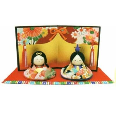 雛人形 ひなまつり  友禅おすまし雛 手作り コンパクト  和雑貨   リュウコドウ ひなまつり
