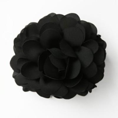 お宮参り ヘアクリップ BH-003CL ヘアアクセサリー ブラック 黒 フラワー 可愛い 髪飾り レディース 女性用 華やか