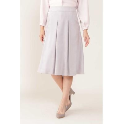 【ナチュラルビューティー/NATURAL BEAUTY】 エルモザスエードボックスプリーツスカート