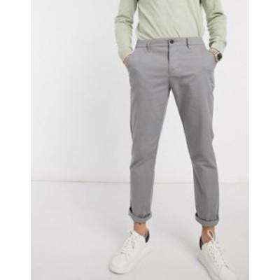 エイソス メンズ カジュアルパンツ ボトムス ASOS DESIGN slim chinos in light gray Warm grey