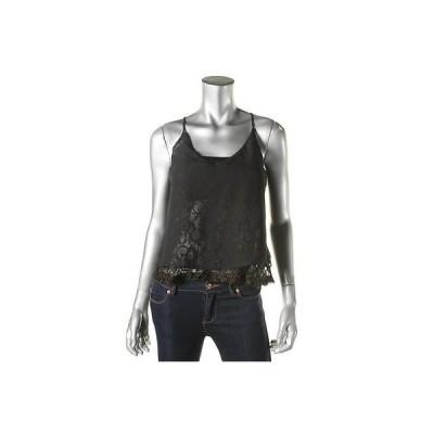 トップス&ブラウス Material Girl Material Girl 3077 レディース ブラック メタリック Lace Crop Top Shirt Juniors M BHFO