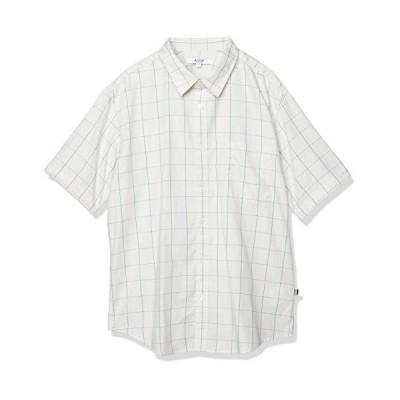 [エーグル] WOVEN SHIRTS 吸水速乾 ロストウィンドウ ペン 半袖シャツ メンズ ライトグレー 日本 00M (日本サイズM相