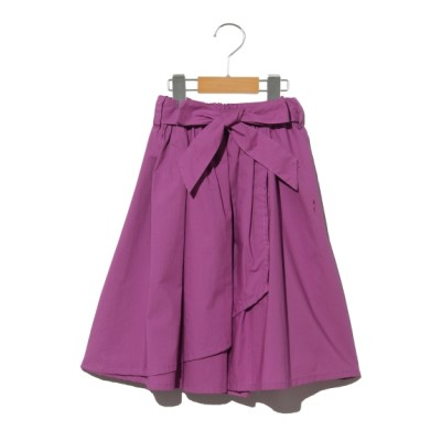 a.v.v[ベビー&キッズ] (アーヴェヴェ) 【100~120cm】ウェストリボンラップスカート パープル 100