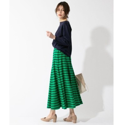 スカート ボーダーマキシスカート