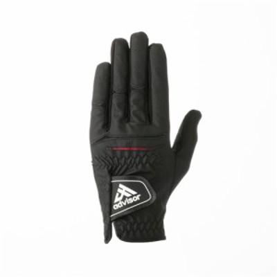 アドバイザー ADGL2018 ゴルフグローブ 左手用 ブラック サイズ S(22~23cm)