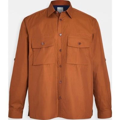 (取寄)ポールスミス ダブル ポケット ミリタリー シャツ Paul Smith Double Pocket Military Shirt Brown
