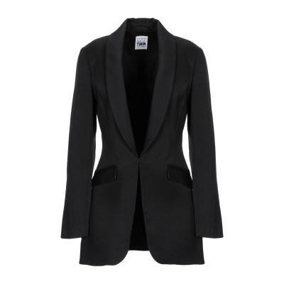 MY TWIN TWINSET テーラードジャケット ブラック M ポリエステル 68% / レーヨン 30% / ポリウレタン 2% テーラードジ