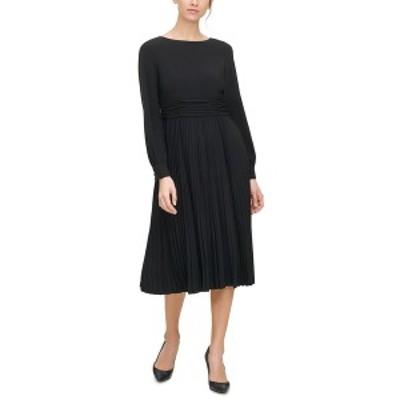ジェシカハワード レディース ワンピース トップス Pleated Midi Dress Black