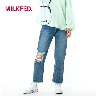 MILKFED. デニムパンツ【103201031011】DISTRESSED DENIM PANTS ダメージデニム ジーンズミルクフェド milkfed. 2020SS【0400001639269】