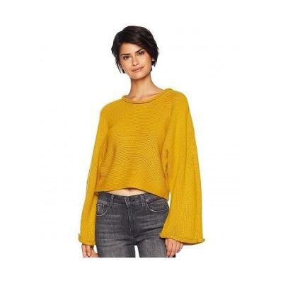 BB Dakota ビービーダコタ レディース 女性用 ファッション セーター BB Talk Jersey Stitch Cropped Sweater - Marigold