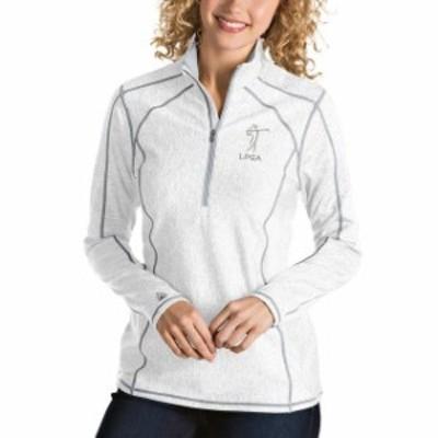 Antigua アンティグア アウターウェア ジャケット/アウター Antigua LPGA Womens White Tempo Half-Zip Pullover