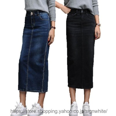 デニムスカート レディース スカート ストレッチ性あり ゴムウエスト 体型カバー S-XXL 夏 春 普段着 着やすいデニムスカート 美しいボディライン
