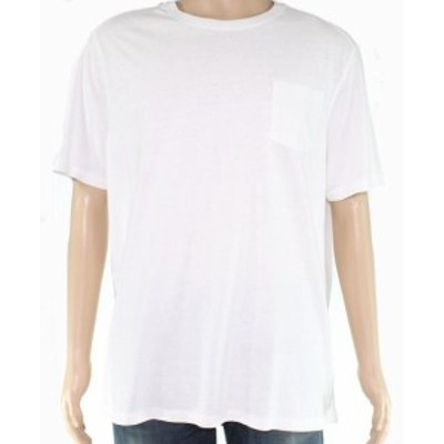 Touch タッチ ファッション トップス Fat Face Mens White Size 2XL Crewneck Soft Touch One Pocket Tee T-Shirt