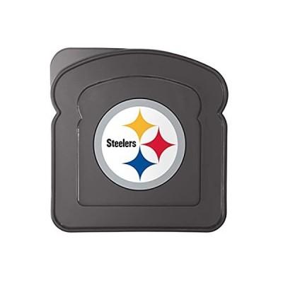 輸入商品 Boelter Brands NFL ピッツバーグ・スティーラーズ プラスチックサンドイッチコンテナコンテナ ブラック 5.5 人気商品