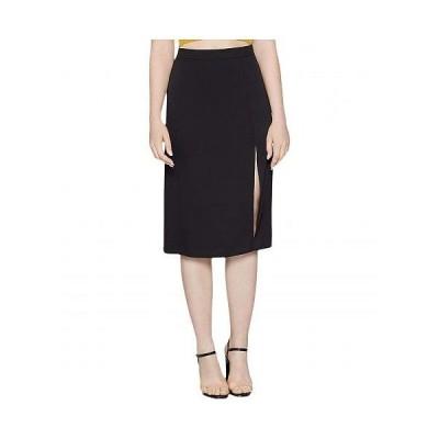 BCBGeneration ビーシービーゲネレーション レディース 女性用 ファッション スカート Front Slit Woven Midi Skirt - YQG3271501 - Black