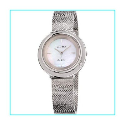 Citizen Ambiluna Eco-Drive Movement Mother Of Pearl Dial Ladies Watch EM0640-58D【並行輸入品】