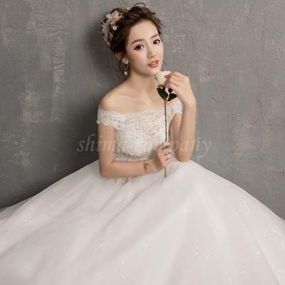 ウェディングドレス  刺繍 花嫁 ロングドレス スピーカースリーブ  二次会  パーティードレス・結婚式・二次会 ウエディングドレス 花嫁ドレス ドレス 嬢ドレス