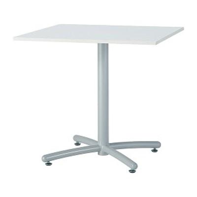 ミーティングテーブル 120×75cm 正方形 シルバー脚 会議用テーブル 会議テーブル 会議机 会議デスク テーブル 打ち合わせ 商談(代引不可