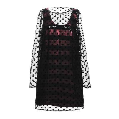 IT'S A PARTY DRESS ミニワンピース&ドレス ブラック 46 レーヨン 50% / ポリエステル 50% / レーヨン / ポリウレ