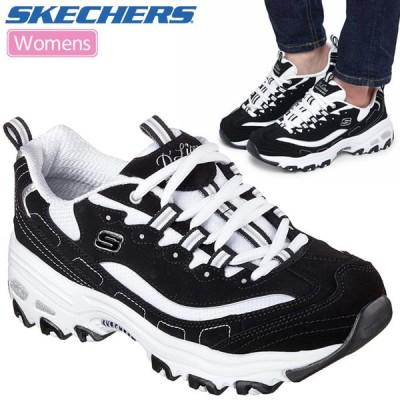 スケッチャーズ SKECHERS スニーカー 厚底 レディース ディライト ディーライト ビゲストファン ブラック ホワイト 23-25cm D'LITES BIGGEST FAN 11930