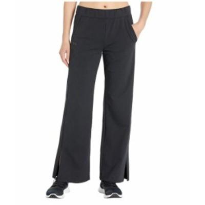 アンダーアーマー レディース カジュアルパンツ ボトムス Favorite Open Hem Side Slit Pants Black/Black/Black