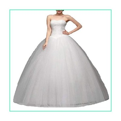 HDSLP Women's Ball Gown Bridal Wedding Dress Long Sweetheart Tulle Bridal Gowns Lace Up Plus Size Ivory 12並行輸入品