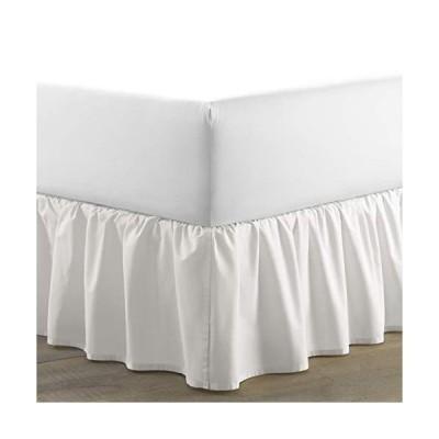Laura Ashley  ソリッドコレクション  ラグジュアリープレミアムホテル品質ベッドスカート 簡単フィット しわ防止 色あせ防止 スタイリッシ