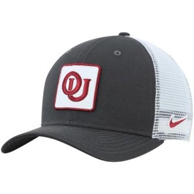 ナイキ メンズ 帽子 アクセサリー Oklahoma Sooners Nike Classic 99 Alternate Logo Trucker Adjustable Snapback Hat Anthracite