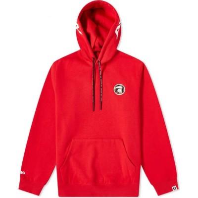 ベイシング エイプ AAPE by A Bathing Ape メンズ パーカー トップス aape hood logo popover hoody Red