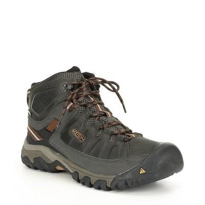 キーン メンズ ブーツ&レインブーツ シューズ Men's Targhee III Mid Waterproof Boots Black Olive/Golden Brown