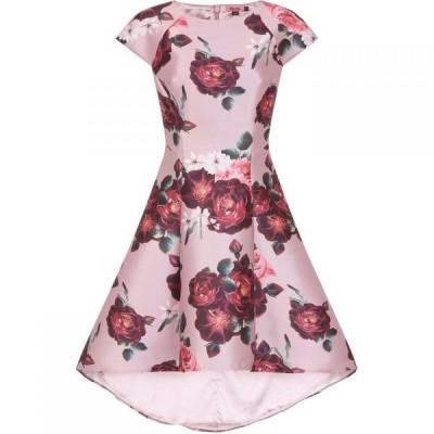 チチ Chi Chi レディース パーティードレス ワンピース・ドレス Floral Print Dip Hem Dress Mink