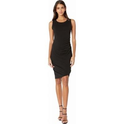 ボビ ロサンゼルス bobi Los Angeles レディース ボディコンドレス ワンピース・ドレス Supreme Jersey Ruched Bodycon Dress Black