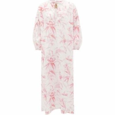 バイウォリッド By Walid レディース ワンピース ワンピース・ドレス Rosie Papagayo bird-print cotton lawn dress Pink