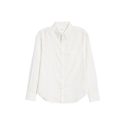 インタイア ワールド シャツ トップス メンズ Organic Cotton Oxford Shirt White