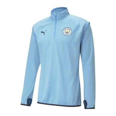 プーマ パーカー・スウェットシャツ メンズ アウター CITY WARM-UP - Sweatshirt - team light blue-peacoat
