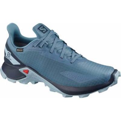 サロモン レディース スニーカー シューズ Women's Salomon Alphacross Blast GORE-TEX Trail Running Sneaker Copen Blue/Navy Blazer/A