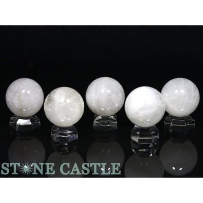 高品質 天然石 置き石 丸玉 H&E社製 アゼツライト 約25mm (ギャランティカード付) パワーストーン