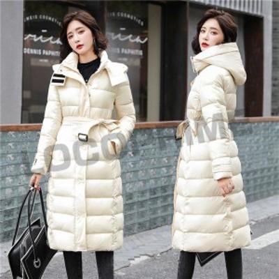 中綿ダウンジャケット レディース 中綿ジャケット キルティングジャケット 中綿コート フード付き 厚手 Aライン 体型カバー 暖かい 冬 お