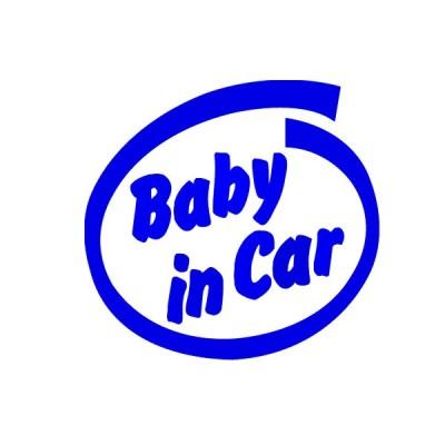 Baby in CAR ベビーインカー 抜き文字ステッカー Sサイズ