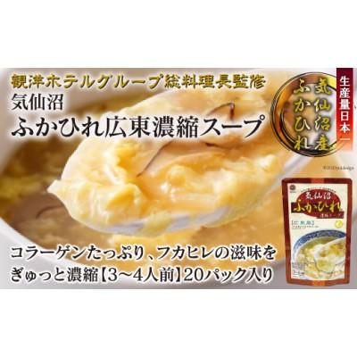 気仙沼ふかひれ広東濃縮スープ(20パック入り)<阿部長商店>【宮城県気仙沼市】