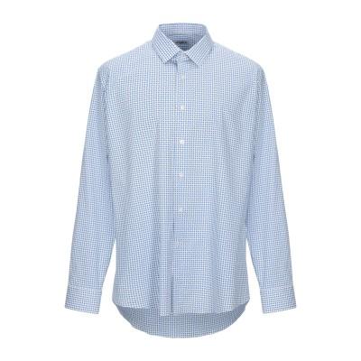 UNGARO シャツ ブルー 38 コットン 97% / ポリウレタン 3% シャツ