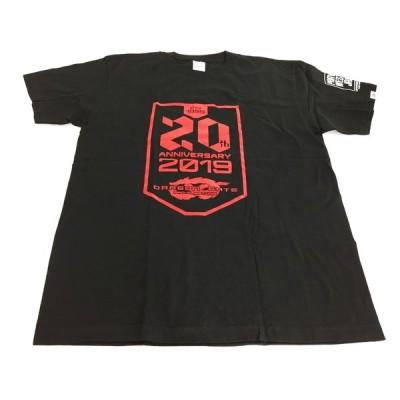 未使用品 プロレスTシャツ 半袖 Tシャツ NEW YEAR GATE 2019 プリントレッド 黒 ブラック Lサイズ
