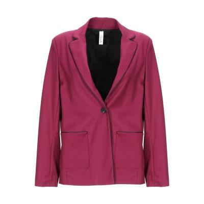 スーベニア SOUVENIR テーラードジャケット ガーネット S ポリエステル 62% / レーヨン 35% / ポリウレタン 3% テーラードジ