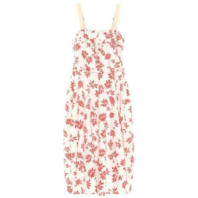 リーマシューズ Lee Mathews レディース ワンピース ミドル丈 ワンピース・ドレス lulu floral cotton midi dress Floral