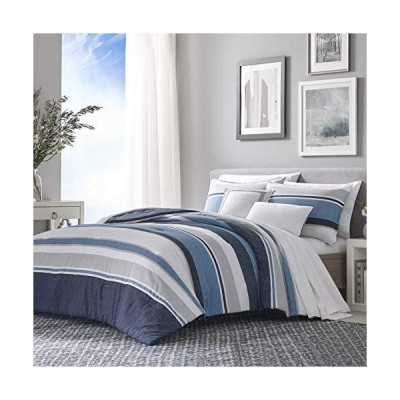 Nautica Westport 5-Piece Comforter Bonus Set, Full/Queen, Navy