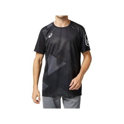 (アシックス)LIMO昇華グラフィックショートスリーブトップ 2031B201.001BL バレーボール プラクティスシャツ