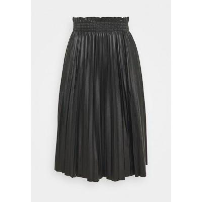 ヴェロモーダ スカート レディース ボトムス VMCLARIN KNEE SKIRT - Pleated skirt - black
