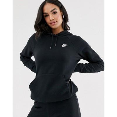 ナイキ レディース パーカー・スウェットシャツ アウター Nike Essentials hoodie in black Black