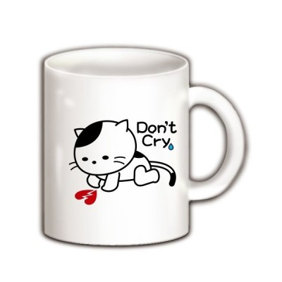 泣かないで猫 マグカップ(ホワイト)